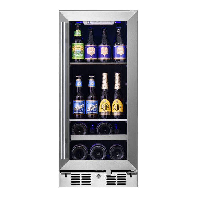 48 Can, 7 Bottle Single Zone Beverage and Wine Cooler
