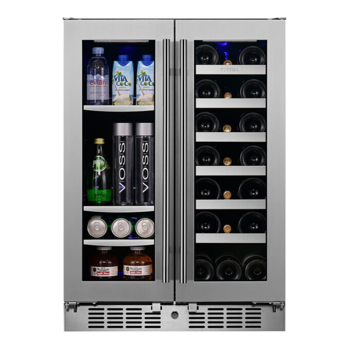 64 Can, 20 Bottle Dual Zone Wine and Beverage Cooler