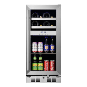 8 Bottle 40 Can Dual Zone Wine and Beverage Cooler