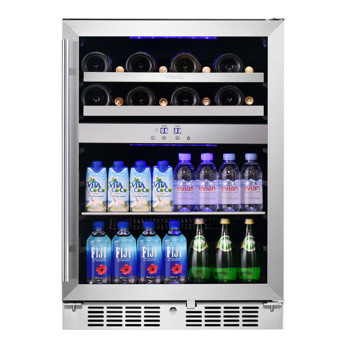 16 Bottle, 70 Can Dual Zone Wine and Beverage Cooler